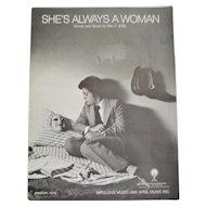 Billy Joel Sheet Music - She's Always A Woman
