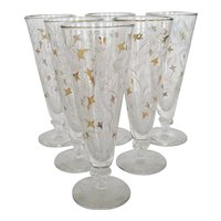 "Set of 6 Libbey ""Royal Fern"" Pilsners"