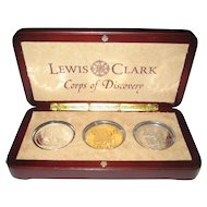 2003 Lewis and Clark Coop of Discovery Bicentennial Commemorative Proof Coin Set - COA