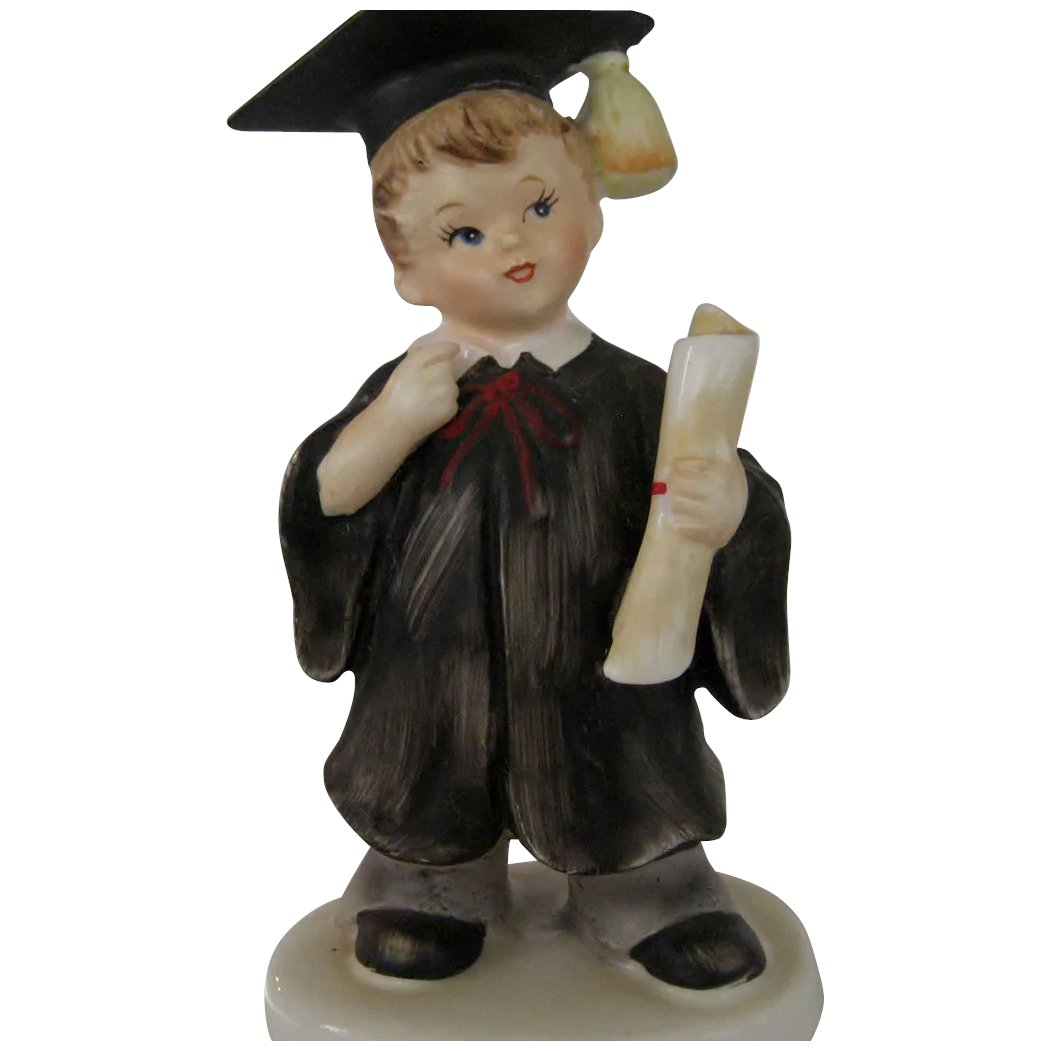 Items Similar To Vintage Santa S Workbench Dickens Choir: Boy Graduate Figurine : The Daisy Chain