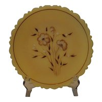 Fenton Art Glass Wildflower on Cameo Plate