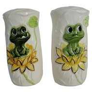 Sears Frog Family Large Salt and Pepper Shakers - 1978