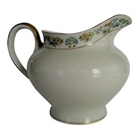 "O.P. Co. Syracuse China ""Oriental"" Water or Milk Pitcher - Gold Trim"