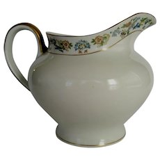"""O.P. Co. Syracuse China """"Oriental"""" Water or Milk Pitcher - Gold Trim"""