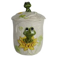 Sears Frog Family Large Canister or Cookie Jar - 1977