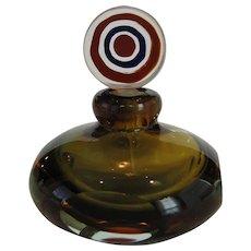 Murano Green and Amber Glass Perfume
