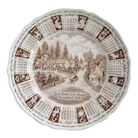 Alfred Meakin 1978 Calendar Plate
