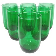 Set of 6 Green Tumblers
