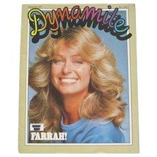 "1977 Farrah Fawcett ""Dynamite"" Scholastic Magazine"