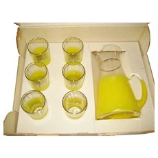 Yellow Swedish Style Handmade 85 Oz. Beverage Set