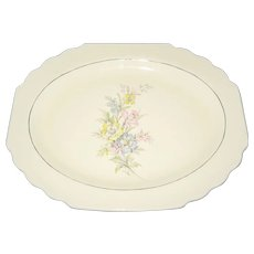 "W.S. Lido Canarytone 13 1/2"" Floral Platter"