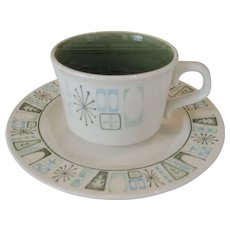 """Taylor Smith Taylor """"Cathay"""" - 7 Cups - 6 Saucers"""