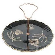 Old Foley Moonglow Tidbit Tray - Staffordshire