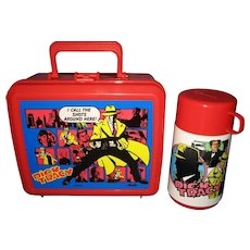 Disney Aladdin Dick Tracy Lunchbox and Thermos - 1990's