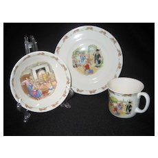 "3 Piece Set Of Royal Doulton ""Bunnykins"""