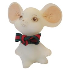 Fenton Christmas Mouse - 1991 - Red Tag Sale Item