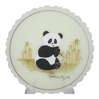 Fenton 1984 Mother's Day Plate - Panda