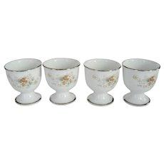 set of 4 Noritake Ireland Egg Cups