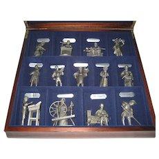 Franklin Mint Fine Pewter Set - Early American