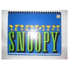 Snoopy 1973-1974 School Year Date Book
