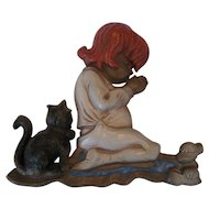 Sexton Praying Girl Wall Plaque