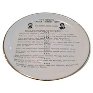 Lincoln/Kennedy Historic Facts Plate
