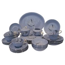 "39 Pc. Set Homer Laughlin Skytone ""Marcia"""