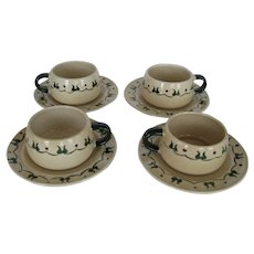 Metlox Homestead Provencial Cup and Saucer - 4 Available