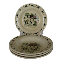 Metlox Homestead Provencial Rimmed Soup Bowls - 4 Available