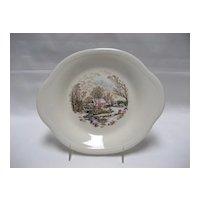 Edwin Knowles Winter Scenes Tabbed Dessert Plates - Set of 3