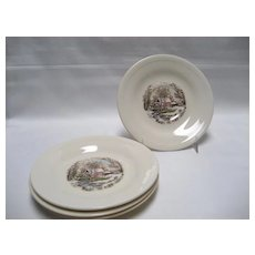 Edwin Knowles Winter Scenes Saucers - Set of 4