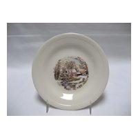 Set of 9 Edwin Knowles Bread & Butter Plates - Winter Scenes