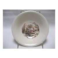 Set of 5 Edwin Knowles Winter Scenes Dessert Bowls