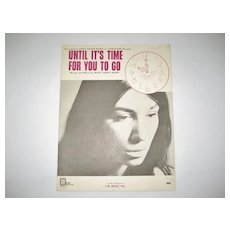 Buffy Sainte Marie Sheet Music - Until It's Time For You To Go