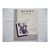 Jackie Wilson Sheet Music - Night