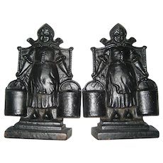 Cast Iron Bookends - Dutch Girls
