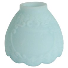 Fenton Blue Satin Candle Lamp Shade