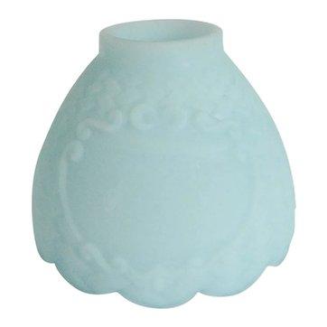 Fenton Blue Satin Candle Lamp Shade