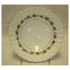 J & G Meakin Soup Bowls - Classic White Grape Pattern