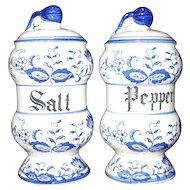 Arnart Japan Blue Onion Salt and Pepper Shakers