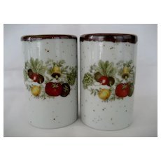 Inarco Japan Salt and Pepper Shakers - Vegetables Motif