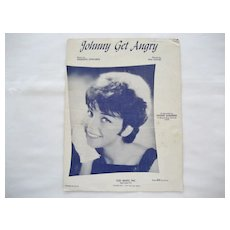 Joanie Sommers Sheet Music - Johnny Get Angry - 1962
