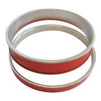 Pair of Monet Red Bangle Bracelets