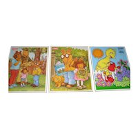 Set of 3 Playskool Puzzles - 1 Big Bird - 2 Arthur
