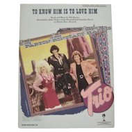 To Know Him Is To Love Him Sheet Music - Trio - 1986