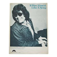 "Ronnie Milsap ""It Was Almost Like A Song"" Sheet Music"