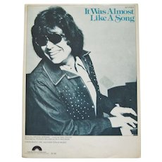 """Ronnie Milsap """"It Was Almost Like A Song"""" Sheet Music"""