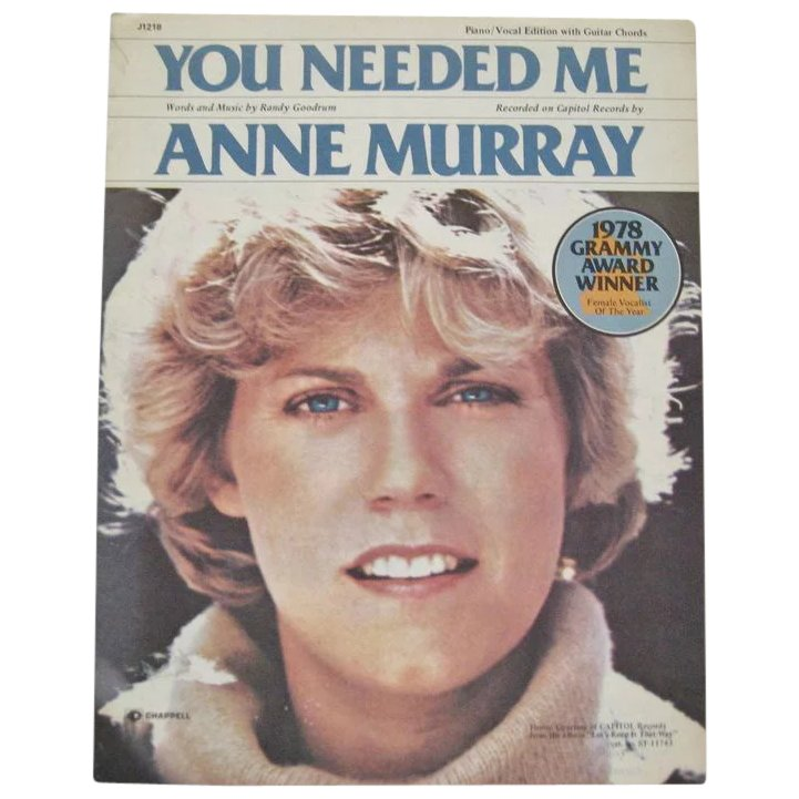Anne Murray You Needed Me Sheet Music The Daisy Chain Ruby Lane
