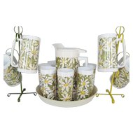 West Bend Thermo-Serv 16 Piece Drink Set - Daisies