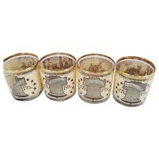 Set of 4 Bi-Centennial Old Fashion Glasses